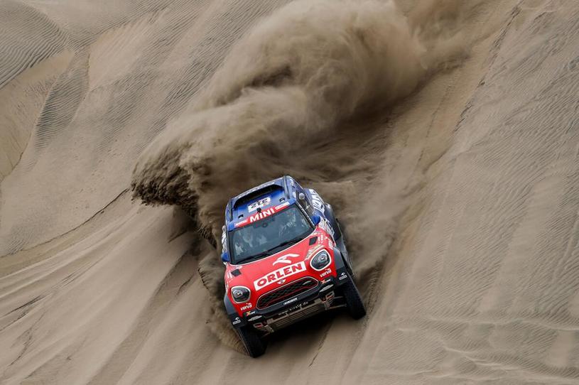 Jakub Przygoński na I etapie Rajdu Dakar 2018. /Informacja prasowa