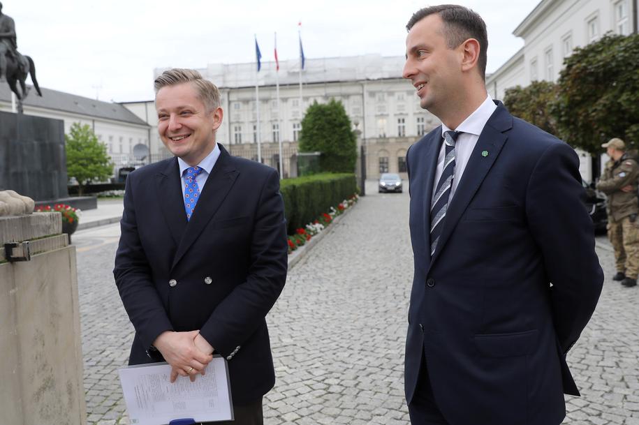 Jakub Stefaniak i Władysław Kosiniak-Kamysz /Rafał Guz /PAP