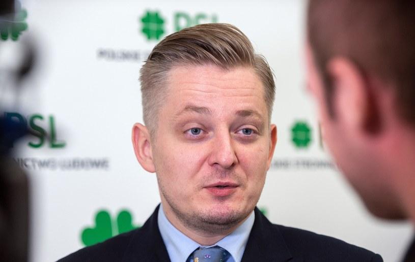 Jakub Stefaniak, rzecznik PSL /Grzegorz Krzyzewski /Reporter