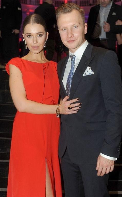 Jakub Wesołowski z żoną Agnieszka Szczurek /Agencja W. Impact
