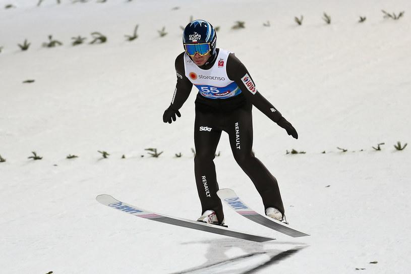 Jakub Wolny wynikiem 227,5 m ustanowił w Vikersundzie rekord życiowy w lotach /Paweł Relikowski /East News