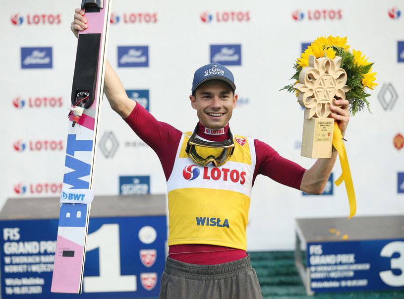 Jakub Wolny zajął 2. miejsce w konkursie letniego PK w Klingenthal /Damian Klamka /East News
