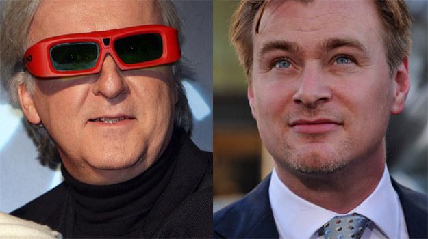 James Cameron (L) widzi przyszłość kina przez okulary 3D, Christopher Nolan (P) jest sceptyczny /Getty Images/Flash Press Media
