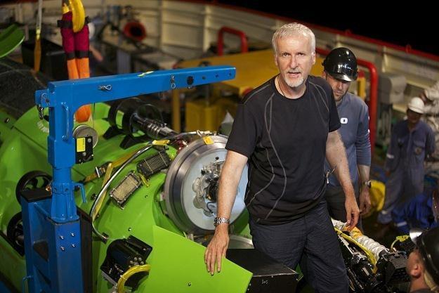 James Cameron na tle Deepsea Challenger /AFP