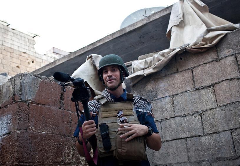 James Foley w syryjskim Aleppo na zdjęciu z listopada 2005 roku /Nicole Tung /AFP