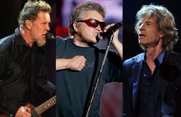 James Hetfield, Muniek Staszczyk i Mick Jagger - fot. Getty Images/AKPA /