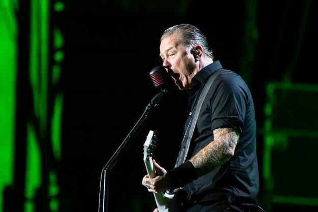 James Hetfield z Metalliki podczas koncertu w Warszawie /fot. Bartosz Nowicki
