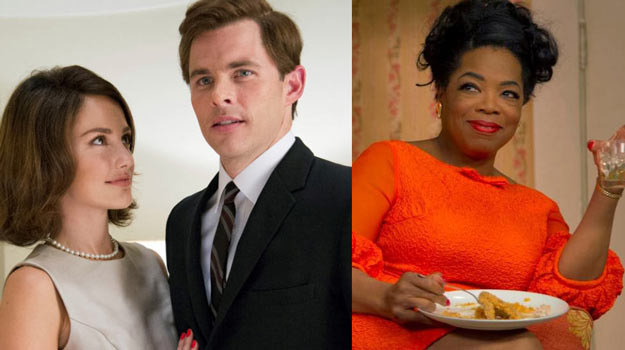 "James Marsden (L) i Oprah Winfrey (P) w ""Kamerdynerze"". /materiały dystrybutora"
