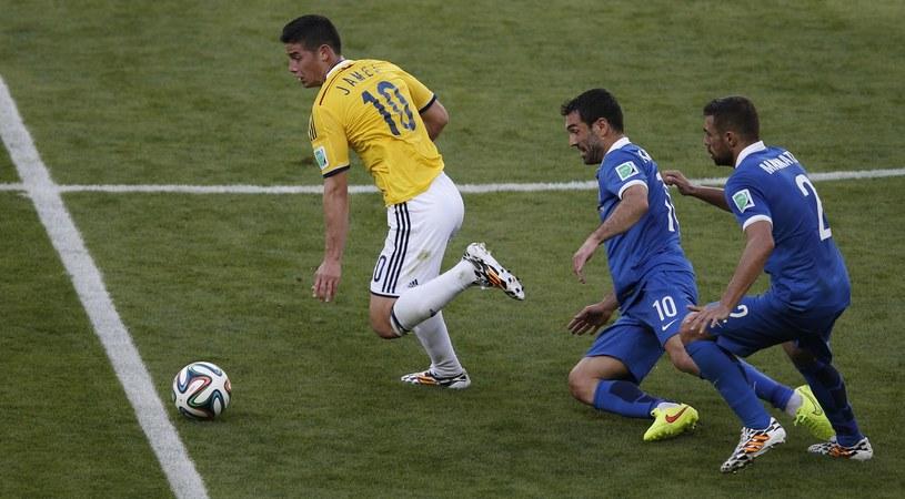 James Rodriguez był poza zasięgiem obrony rywali /AFP