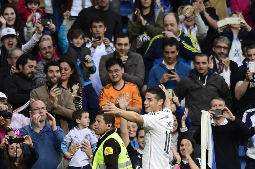 James Rodriguez cieszy się po pięknej bramce /AFP