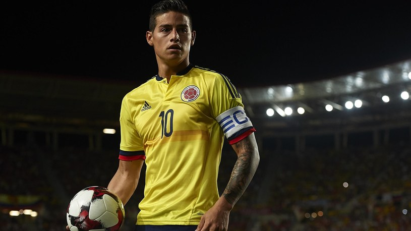 James Rodriguez of Colombia looks on during the international friendly match between Spain and Colombia at Nueva Condomina Stadium on June 7, 2017 in Murcia, Spain /Getty Images