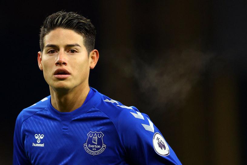 James Rodriguez spędził w Evertonie zaledwie jeden sezon. Wszystko wskazuje na to, że nie będzie kontynuował swojej gry na Wyspach /RICHARD HEATHCOTE/AFP/East News /East News
