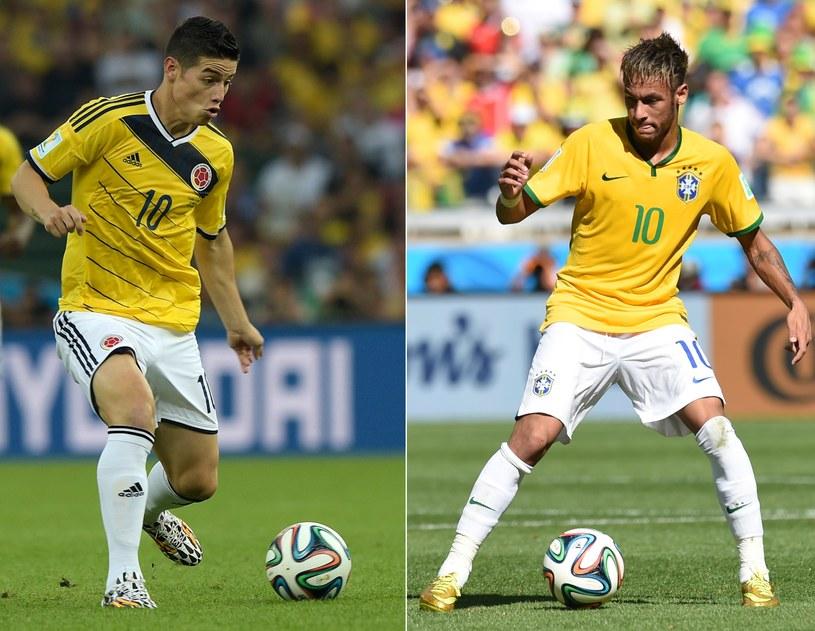 James Rodriguez (z lewej) i Neymar /AFP