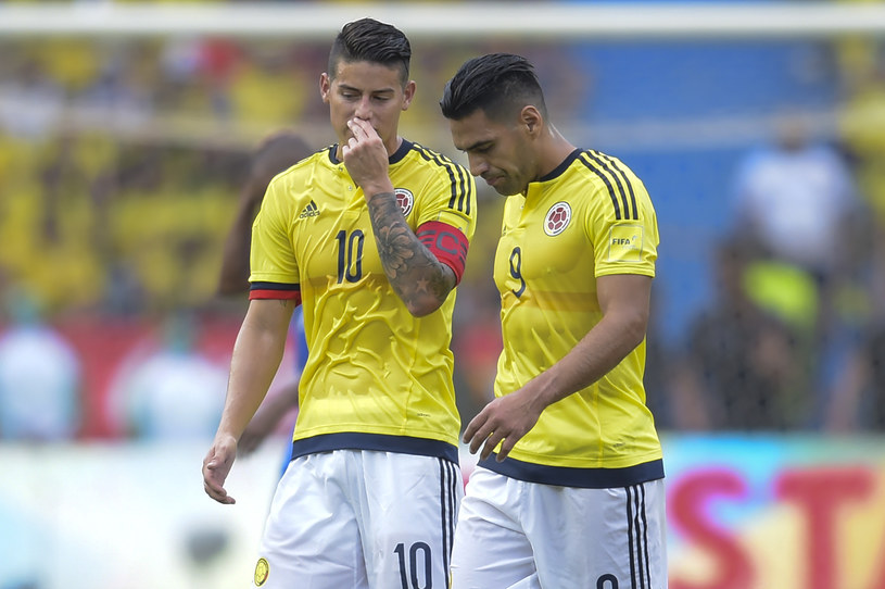 James Rodriguez (z lewej) i Radamel Falcao /AFP
