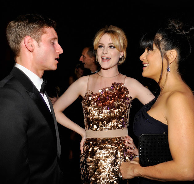 Jamie Bell nie jest zazdrosny o piękne kobiety w otoczeniu Evan. Tu: z Salmą Hayek /John Sciuli /Getty Images