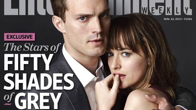 """Jamie Dornan i Dakota Johnson na pierwszym wspólnym zdjęciu na okłądce """"Entertainment Weekly"""" /materiały dystrybutora"""