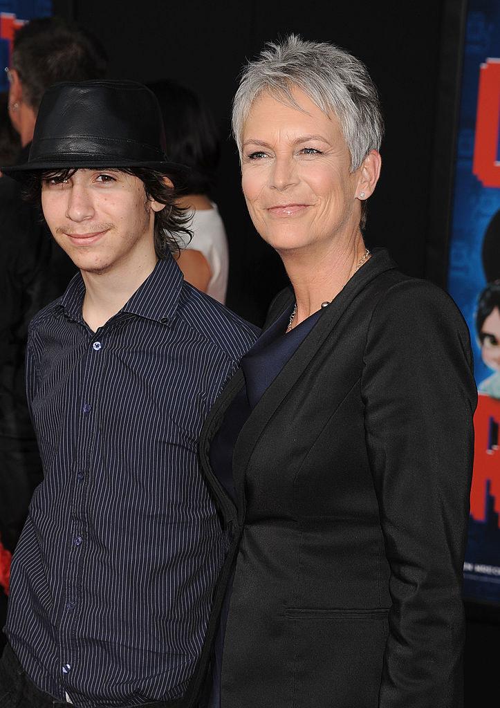Jamie Lee Curtis z synem Thomasem Guestem, obecnie Ruby Guest. /Jeffrey Mayer/WireImage
