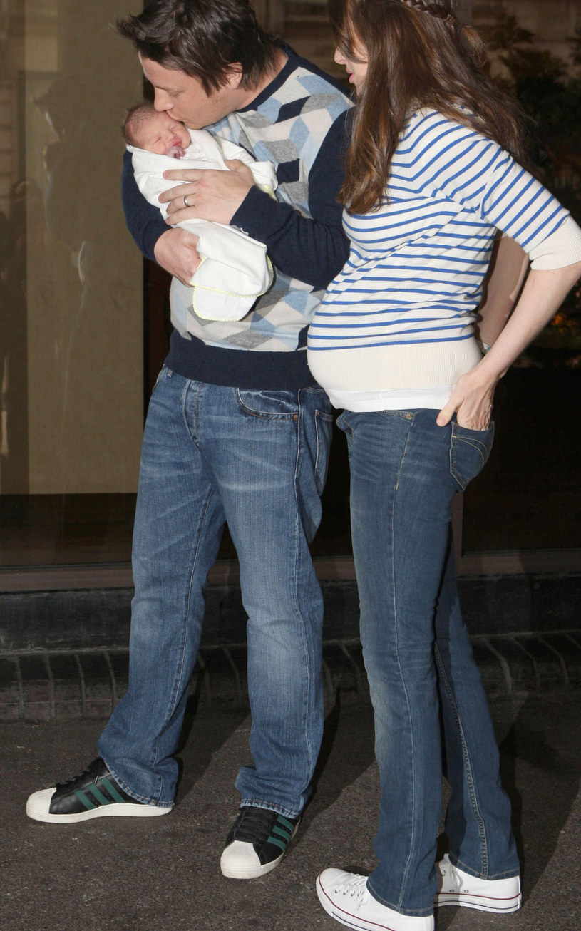 Jamie Oliver z żoną /Beretta/Sims / Rex Features/EAST NEWS /East News