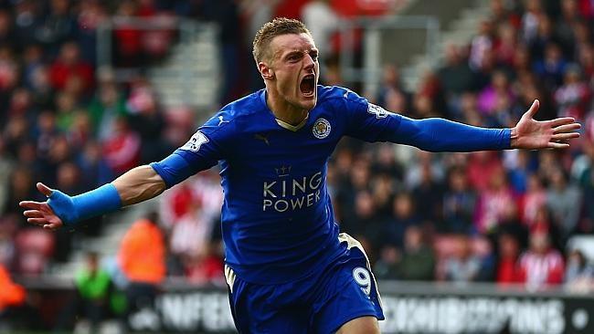 Jamie Vardy w koszulce Leicester City /AFP