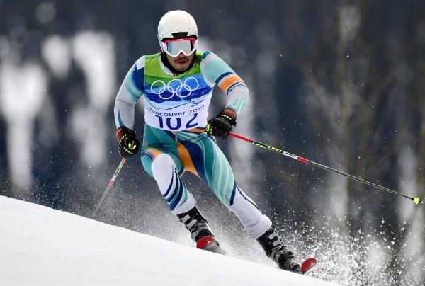 Jamyang Namgial na olimpijskiej trasie /AFP