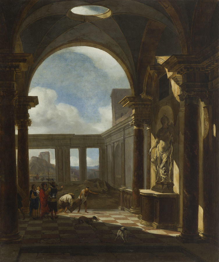 Jan Baptist Weenix, Fantazja architektoniczna, po 1647 roku /INTERIA.PL/materiały prasowe
