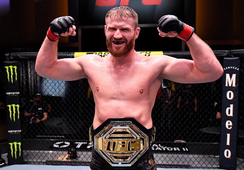 Jan Błachowicz obronił pas mistrzowski UFC /Jeff Bottari/Zuffa LLC /Getty Images
