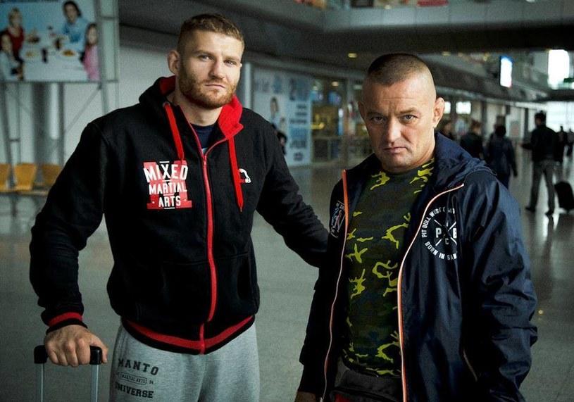 Jan Błaczowicz (z lewej) z trenerem Andrzejem Kościelskim /Facebook/Jan Błachowicz /