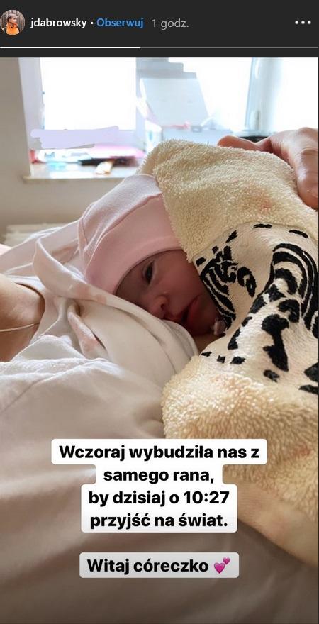 Jan Dąbrowski pokazał córkę na Instagramie /Instagram