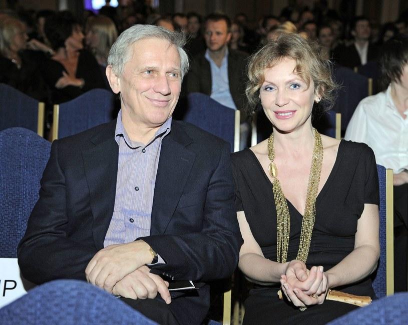 Jan Englert i Beata Ścibakówna w 2008 roku /Tricolors /East News