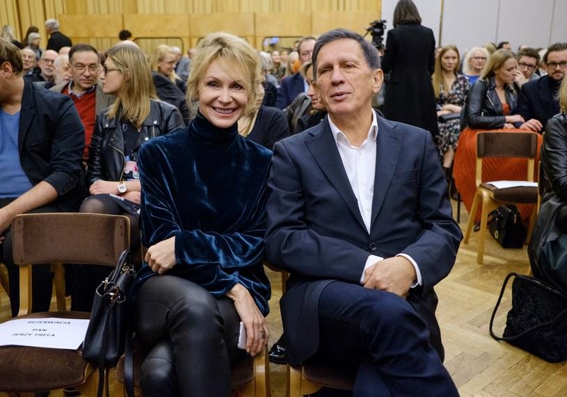 Jan Englert i Beata Ścibakówna w 2017 roku /Bartosz Krupa /East News