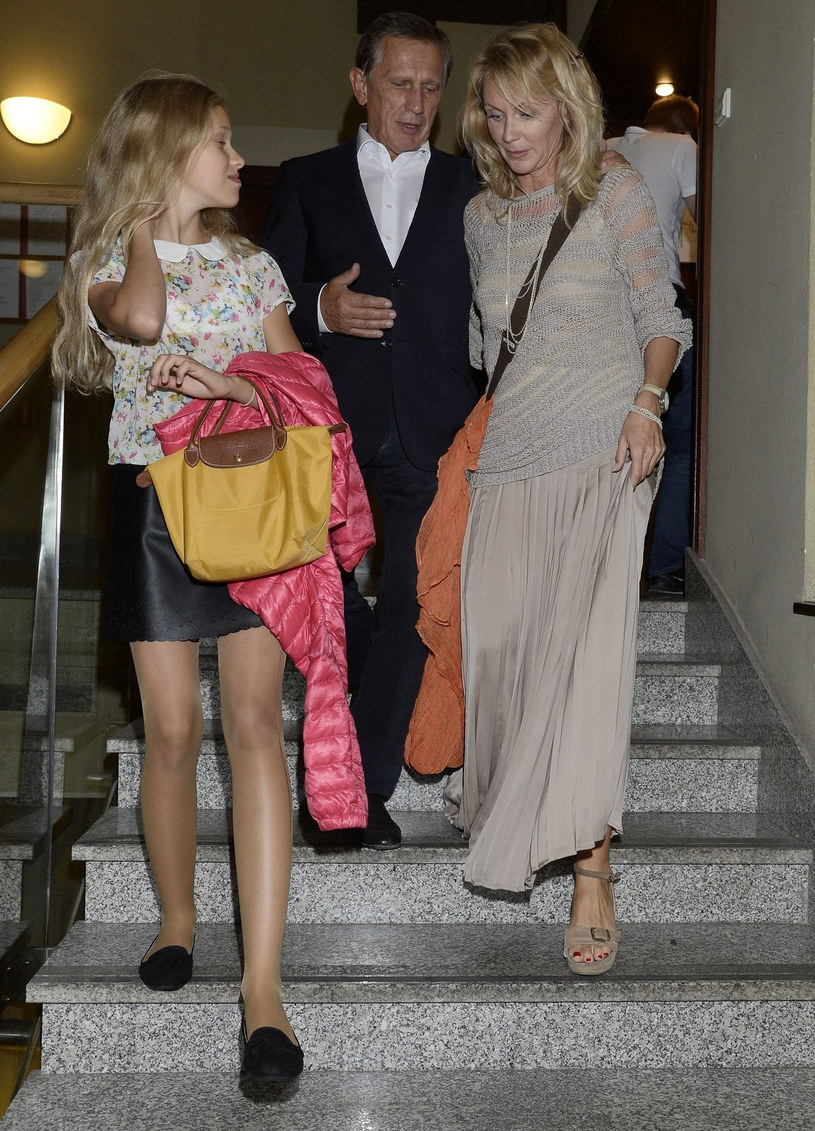 Jan Englert i Beata Ścibakówna z córką Heleną, 2013 rok /East News