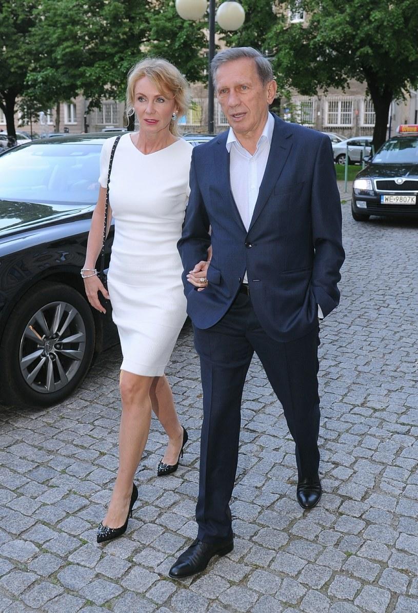 Jan Englert i Beata Ścibakówna /- /East News