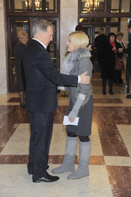 Jan Englert i Edyta Olszówka /East News