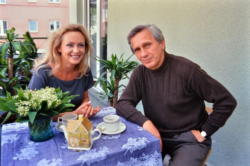 Jan Englert z żoną Beatą Ścibakówną (1999) /Marek Szymański /Agencja FORUM