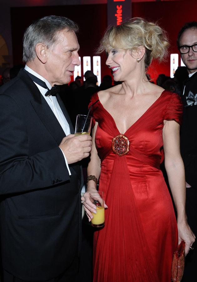 Jan Englert z żoną Beata Ścibakówną  /MWMedia