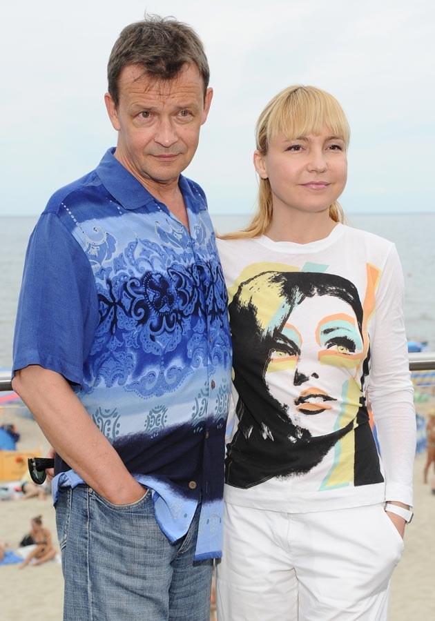 Jan Frycz z żoną, fot.Jarosław Antoniak  /MWMedia