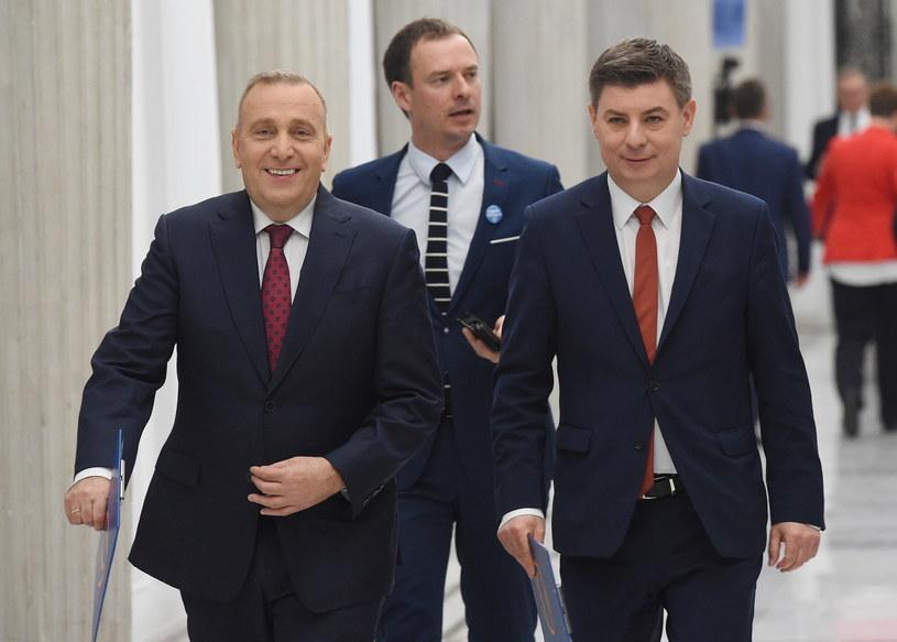 Jan Grabiec (z prawej) /Radek Pietruszka /PAP