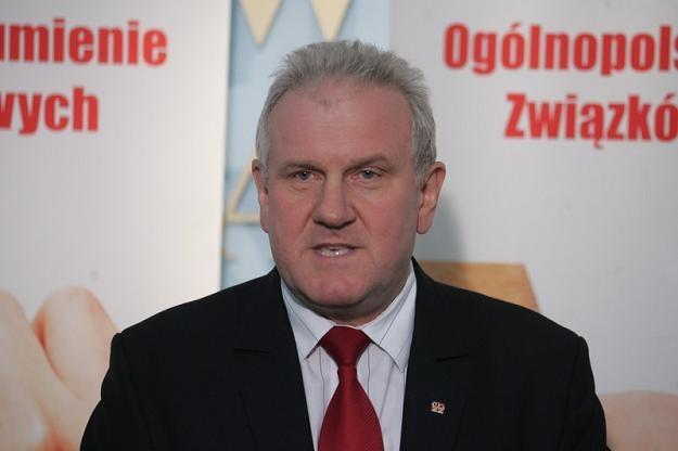 Jan Guz, przewodniczący OPZZ. Fot. PIOTR KOWALCZYK /Agencja SE/East News