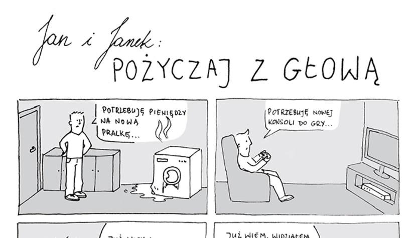 Jan i Janek: Pożyczaj z głową (komiks)