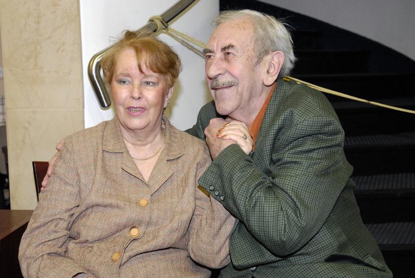 Jan Kobuszewski z żoną, 2008 rok /Mikulski /AKPA