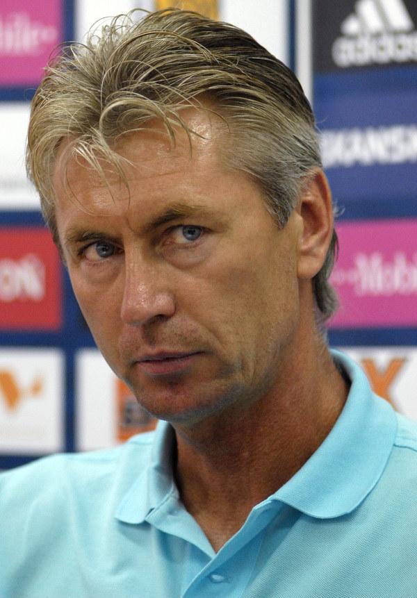 Jan Kocian - trener Ruchu Chorzów /AFP