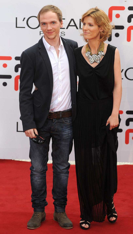 Jan Komasa z żoną Kingą /Wojciech Stróżyk /Reporter