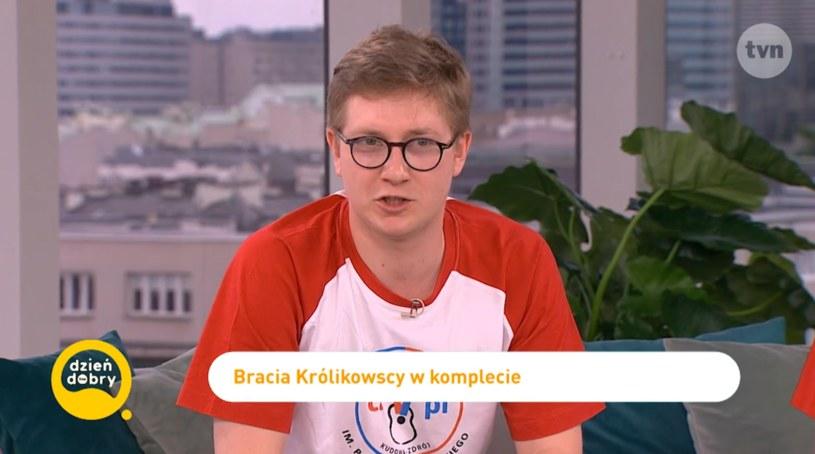 Jan Królikowski w DDTVN, Fot: dziendobry.tvn.pl/ /