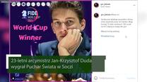 Jan-Krzysztof Duda wygrał Puchar Świata w Soczi. Wideo