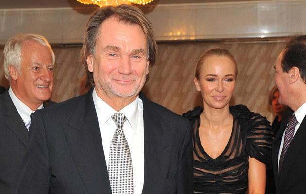 Jan Kulczyk, Joanna Przetakiewicz, fot.Radosław Nawrocki  /Agencja FORUM