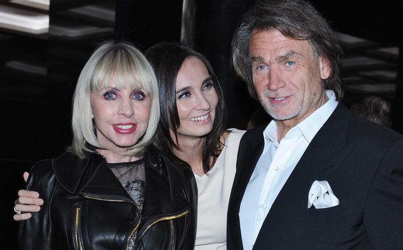 Jan Kulczyk z byłą żoną Grażyną i córką /Andras Szilagyi /MWMedia