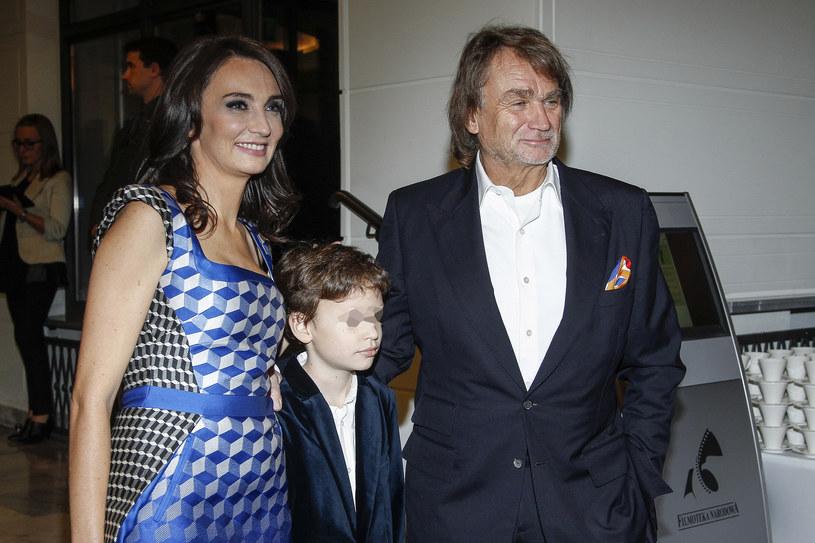 Jan Kulczyk z córką Dominiką i wnukiem Jeremim /Grabarski Damian /AKPA