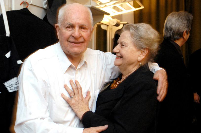 Jan Machulski z żoną Haliną /Warda /AKPA