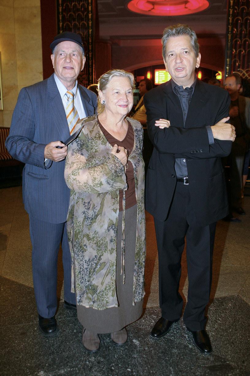 Jan Machulski z żoną i synem Juliuszem /Palicki /AKPA