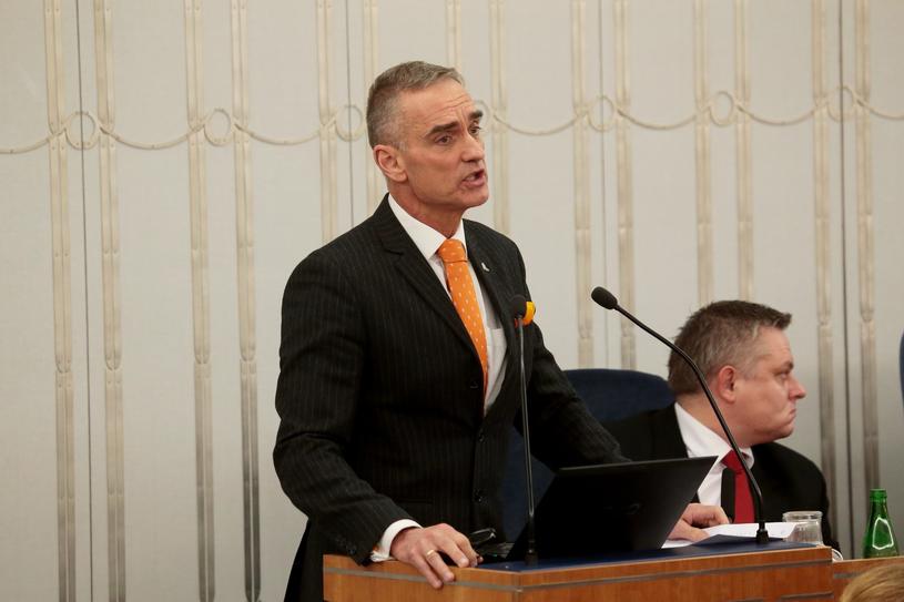 Jan Maria Jackowski podczas posiedzenia Senatu /Adam Jankowski /Reporter